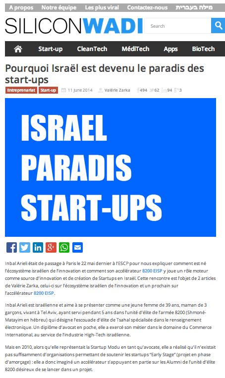Silicon Wadi – Pourquoi Israël est devenu le paradis des start-ups…