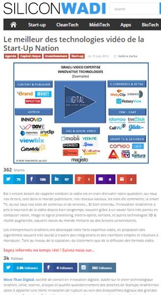 Silicon Wadi – Les meilleures technologies video de la Start-up Nation