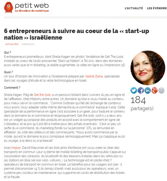 Petit Web – 6 entrepreneurs à suivre au coeur de la « start-up nation » israélienne