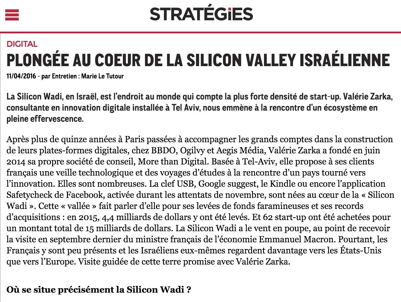 Stratégie – Plongée au coeur de la Silicon Valley israélienne